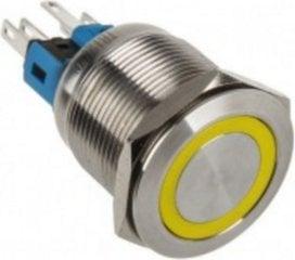 DimasTech LED Button 22mm Yellow (PD096)