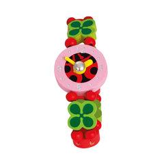 Laste käekell Bino Lepatriinu puidust hind ja info | Tüdrukute mänguasjad | kaup24.ee