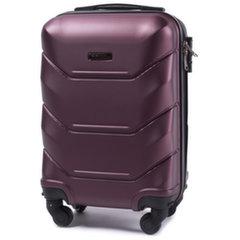 Маленький чемодан Wings Peacock XS, 50 см, 4 колесика, темно-красный