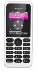 Nokia 130 Dual SIM, Valge hind ja info | Mobiiltelefonid | kaup24.ee