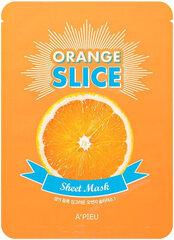 Puhastav-helendav näomask A'Pieu Sheet Mask Orange Slice 20 g