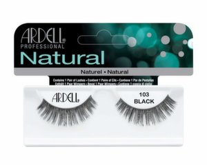 Kunstripsmed Ardell Natural 103 Black, 1 paar