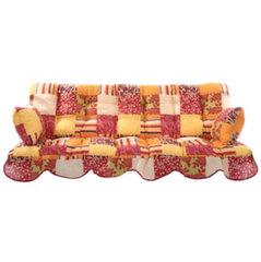 Istumispatjade komplekt aiakiigele Patio Minorca, oranž/värviline