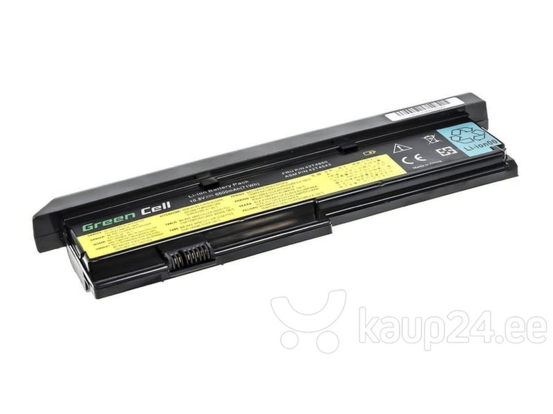 Sülearvuti aku Green Cell Laptop Battery for IBM Lenovo ThinkPad X200 X201 X201i hind