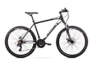 """Мужской горный велосипед Romet Rambler R6.2 26"""" 2019, черный/белый"""