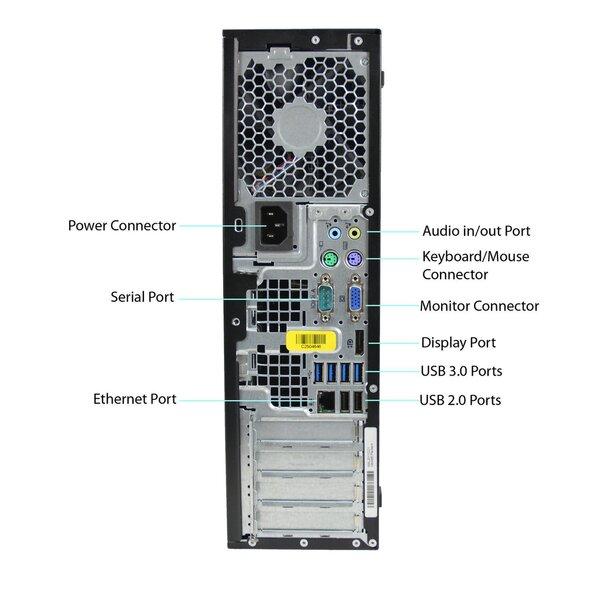 HP 8300 Elite SFF i5-3470 16GB 480SSD GT1030 2GB DVDRW WIN10Pro