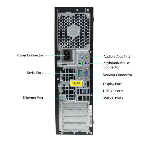 HP 8300 Elite SFF i5-3470 32GB 480SSD+2TB GTX1050Ti 4GB DVDRW WIN10Pro