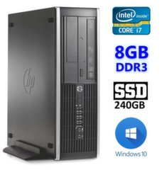 HP 8100 Elite SFF i7-860 8GB 240SSD DVD WIN10Pro