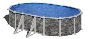 Ovaalse karkassiga bassein Gre Córcega koos liivafiltriga, 610x375x132 cm