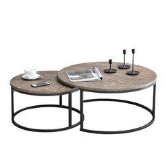 2 laua komplekt Kodia, pruun/must