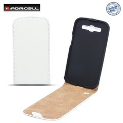 Kaitseümbris Forcell Slim Flip Case Samsung Galaxy S4 i9500, Valge