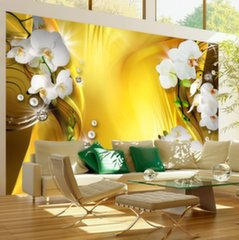 Fototapeet - Orchid in Gold