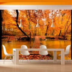 Fototapeet - Autumn bridge