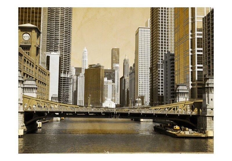 Fototapeet - Chicago's bridge (vintage effect)
