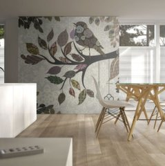 Fototapeet - Tree branch with bird (patchwork)