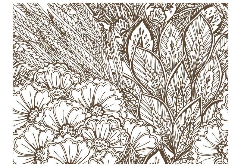 Fototapeet - meadow (black and white)