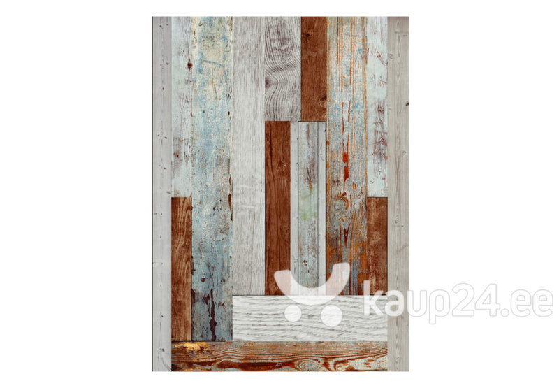 Fototapeet - Labyrinth of wooden planks hind