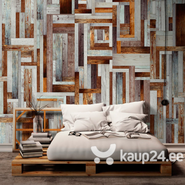 Fototapeet - Labyrinth of wooden planks