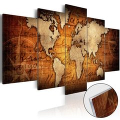 Akrüülprintimine - Acrylic prints – Bronze map I