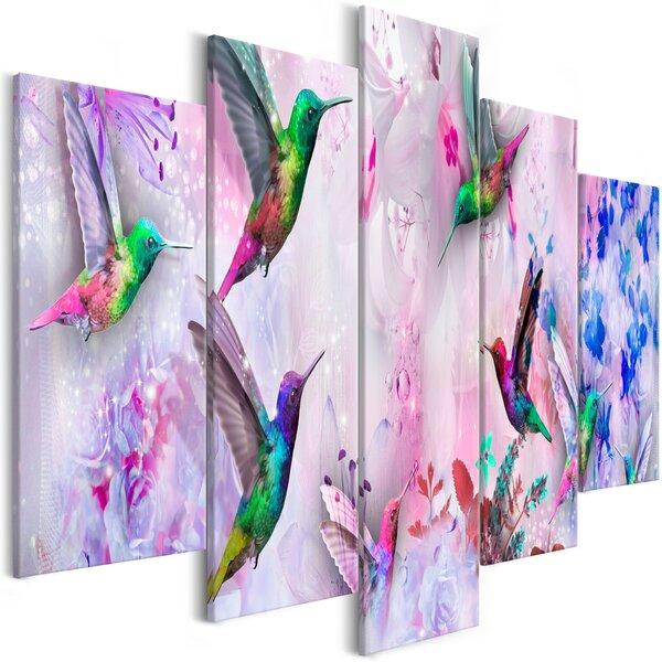 Maal - Colourful Hummingbirds (5 Parts) Wide Violet