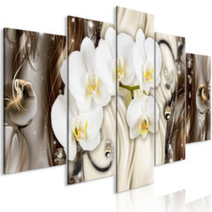 Maal - Orchid Waterfall (5 Parts) Wide Brown