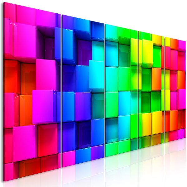 Maal - Colourful Cubes (5 Parts) Narrow