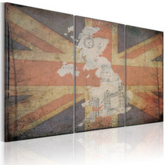 Maal - Map of Great Britain - triptych