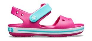 Sandaalid Crocs Kids' Crocband Sandal, Candy Pink/Pool