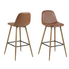 Комплект из 2-х барных стульев Wilma, коричневый/дуб