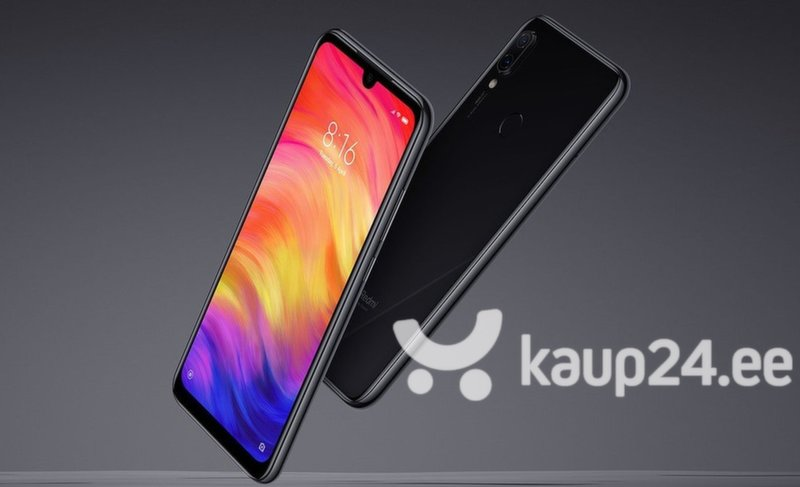 Mobiiltelefon Xiaomi Redmi Note 7, 4/64GB, Dual Sim, Must tagasiside