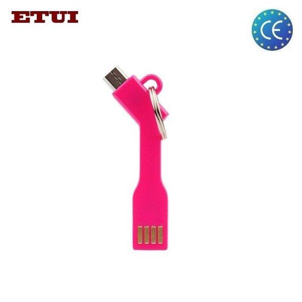 Adapter-ripats Etui USB - Micro USB, roosa