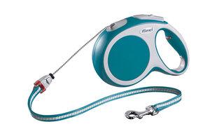 Автоматический поводок FLEXI Vario M 8m, бирюзовый цена и информация | Поводки, ошейники и подтяжки для собак | kaup24.ee