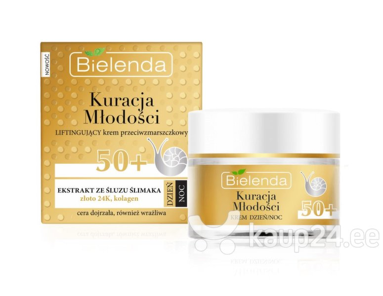 Kortsudevastane näokreem Bielenda Youth Therapy 50+ Lifting 50 ml