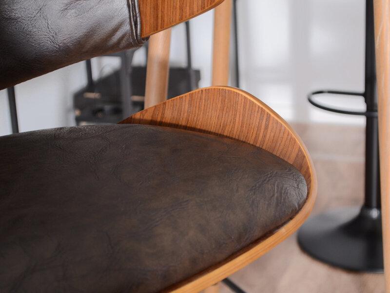 Барный стул Hoker 46, черный/коричневый