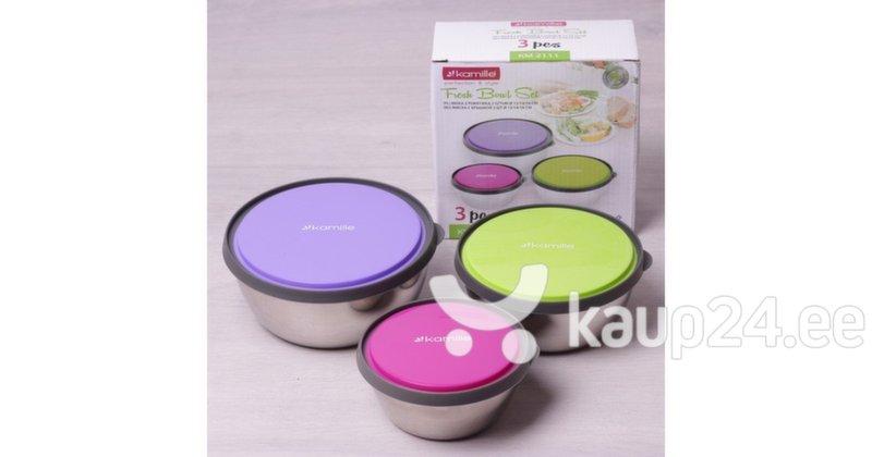 Набор контейнеров для хранения продуктов питания Kamille 2111, 3 шт. дешевле