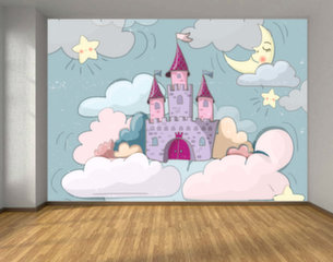 Детские фотообои - Рисованный сказочный замок