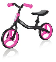 Балансный велосипед Globber Go Bike, черный/розовый, 610-132