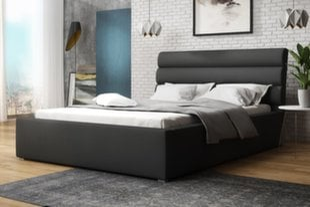 Кровать Havneby, 140х200 см, серый