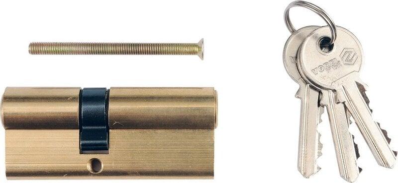 Lukusüdamik 67mm, L31/36mm, 3 võtmega, messing Vorel 77204