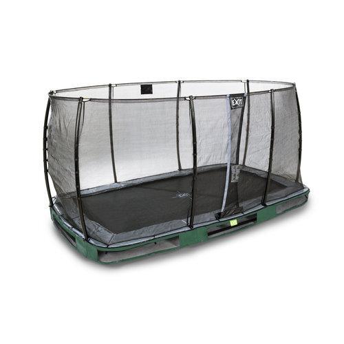 Батут Exit Elegant Premium с защитной сеткой Economy, 244x427 см, зеленый