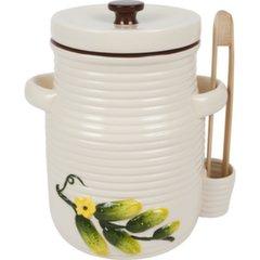 Керамическая посуда со щипцами, 3 Л цена и информация | Посуда и принадлежности для консервирования | kaup24.ee