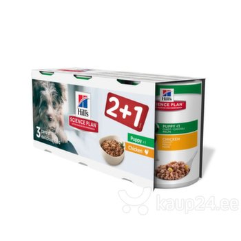 Hill's konservide komplekt kutsikatele 2+1 kanaga Science Plan Puppy Healthy Development Medium, 370 g
