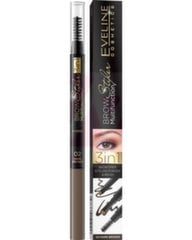Kulmupliiats Eveline Brow Multifunction Styler 3 in 1 02 Dark Brown 1 tk