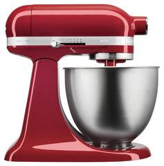 KitchenAid Mini 3,3 l tõstetava ülaosaga minilauamikser 5KSM3311XEER (punane) hind ja info | KitchenAid Mini 3,3 l tõstetava ülaosaga minilauamikser 5KSM3311XEER (punane) | kaup24.ee