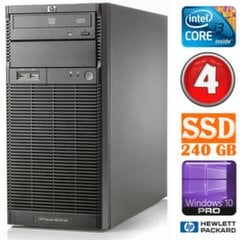 HP ProLiant ML110 G6 i3-550 4GB 240SSD DVD WIN10Pro