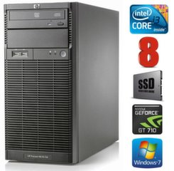 HP ProLiant ML110 G6 i3-550 8GB 120SSD GT710 2GB DVD WIN7Pro