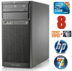 Lauaarvuti HP ProLiant ML110 G6 i3-550 8GB 240SSD+500GB DVD WIN7Pro