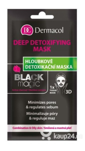 Detoksifitseeriv näomask Dermacol Black Magic 1 tk
