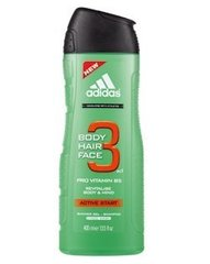 Dušigeel Adidas Active Start 3in1 Men 400 ml