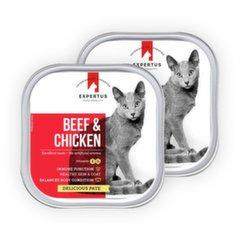 Pasteet koertele Expertus veise- ja kanalihaga Beef & Chicken 1+1
